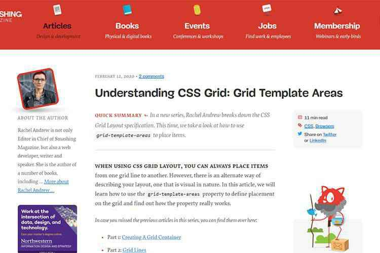 Example from Understanding CSS Grid: Grid Template Areas