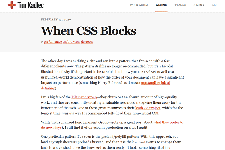Example from When CSS Blocks