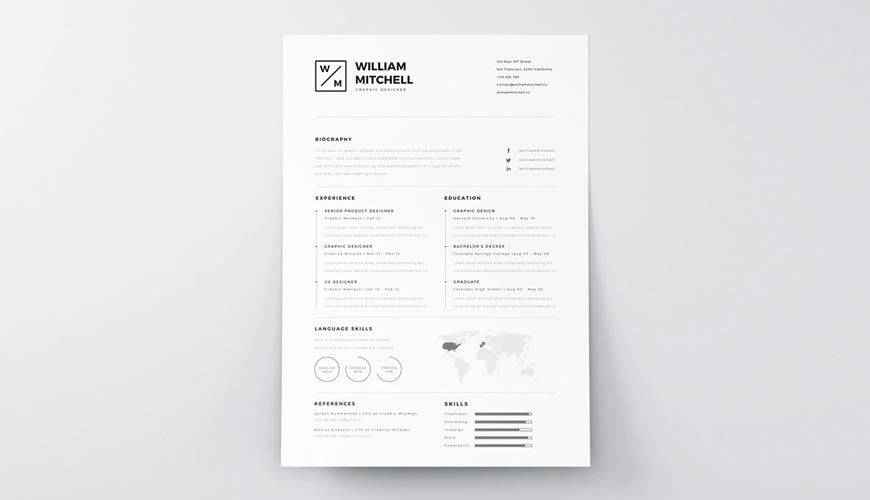 This word resume template has an outstanding design that attracts the company interviewer within a few seconds. 20 Beautiful Free Resume Templates For Designers