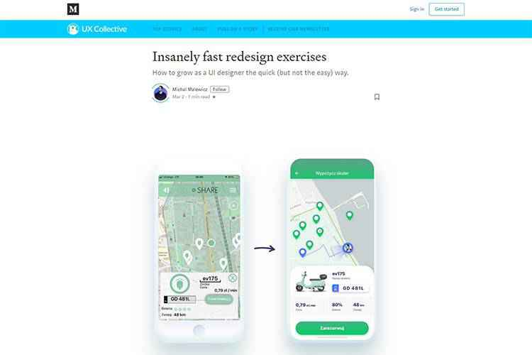 Example from Insanely fast redesign exercises