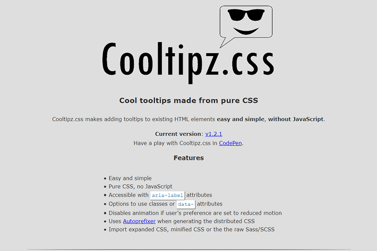 Example from Cooltipz.css