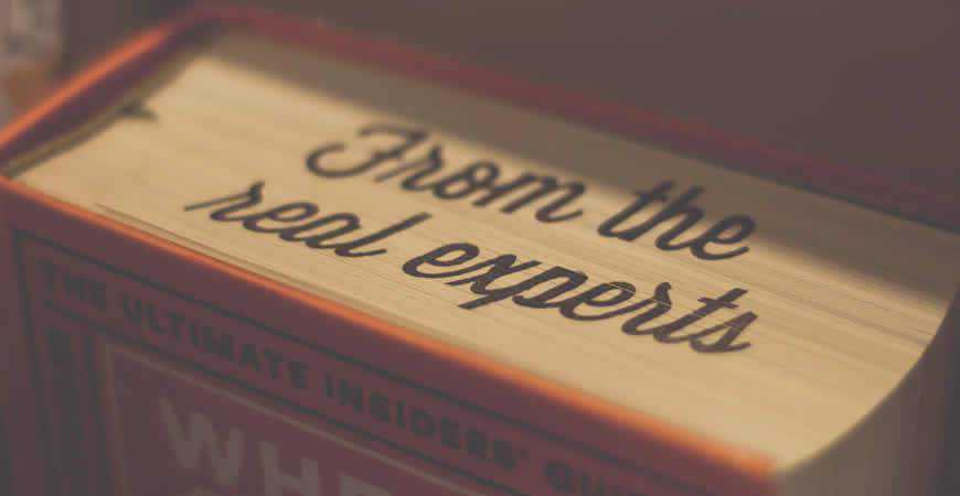 real experts book typography quote