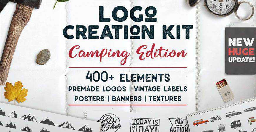 Camping Logo Template logo creator kit template