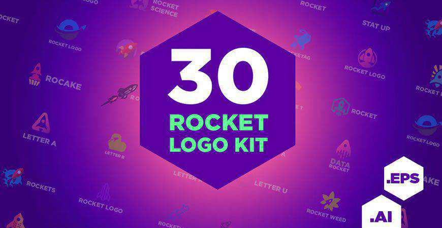 rocket logo creator kit template