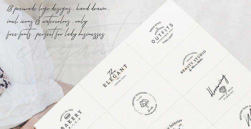 So Female Branding logo creator kit template