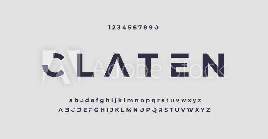 Claten Modern Minimal logo font typeface logotype