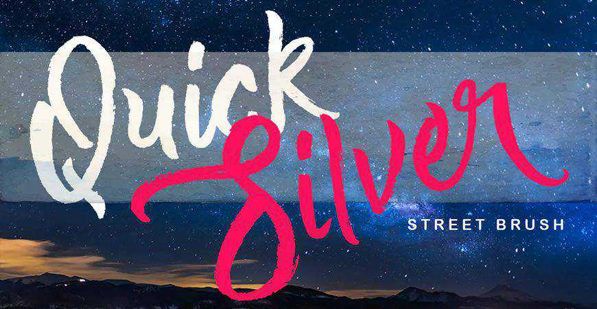 Quick Silver logo font typeface logotype