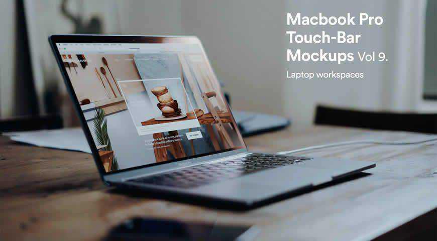 Macbook Pro Photoshop PSD Mockup Template