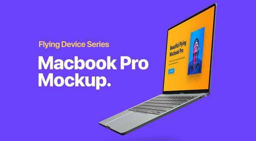 MacBook Photoshop PSD Mockup Template