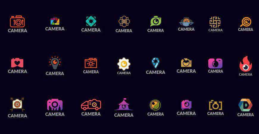 Logo Kit Templates photographer camera photography