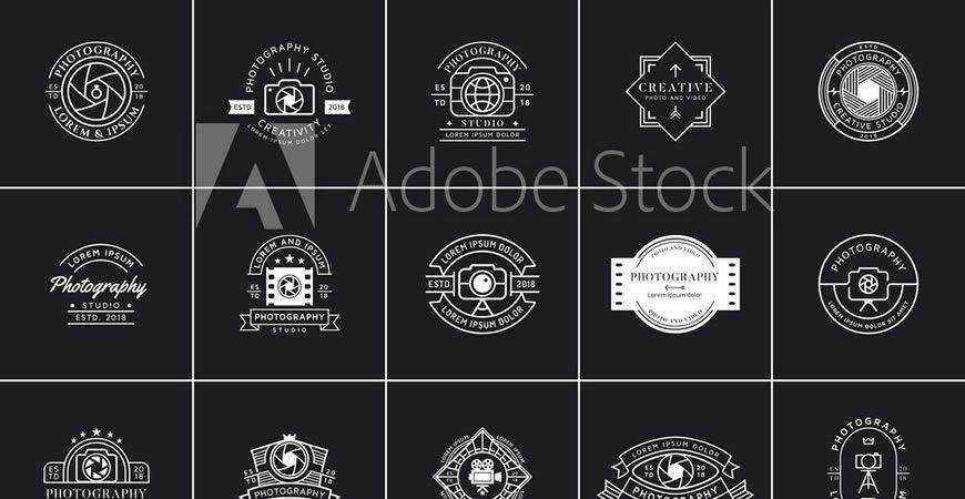 Emblem Badge Label Logo photographer camera photography