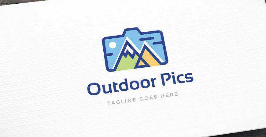 Outdoor Pics Logo Template photographer camera photography