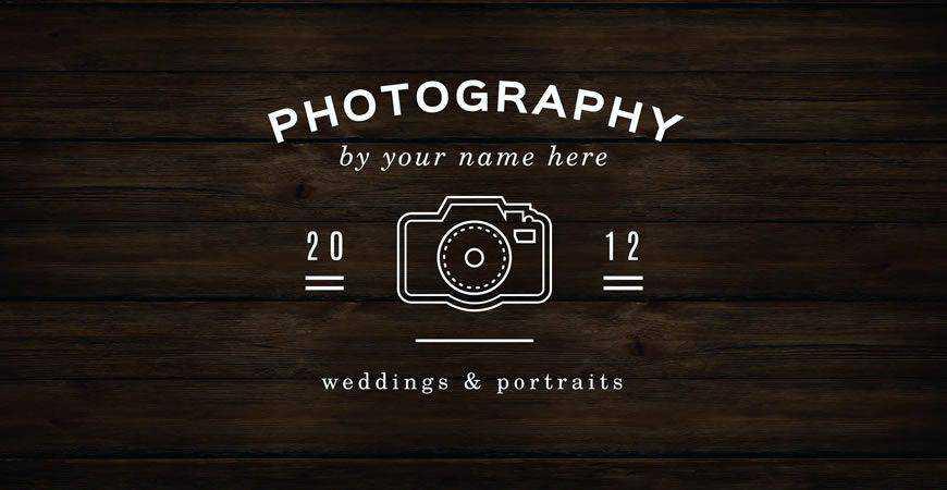 Minimal Logo Template photographer camera photography