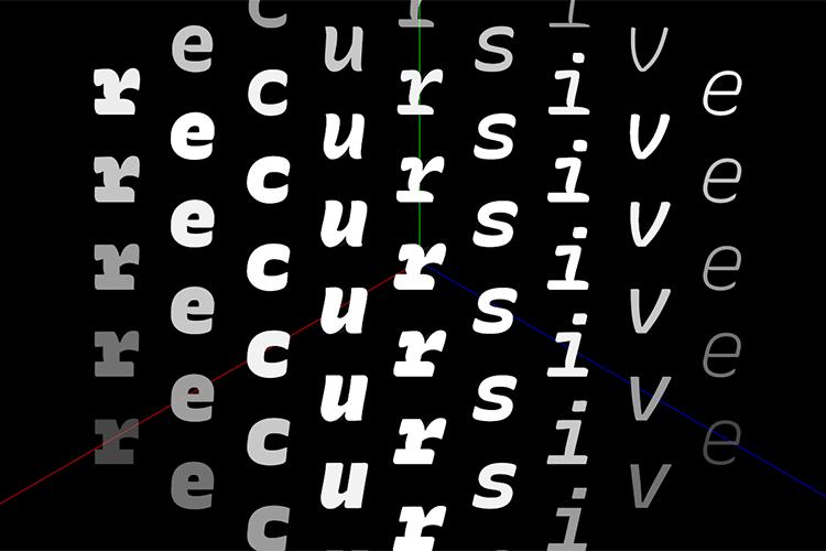 Example of Recursive Sans & Mono