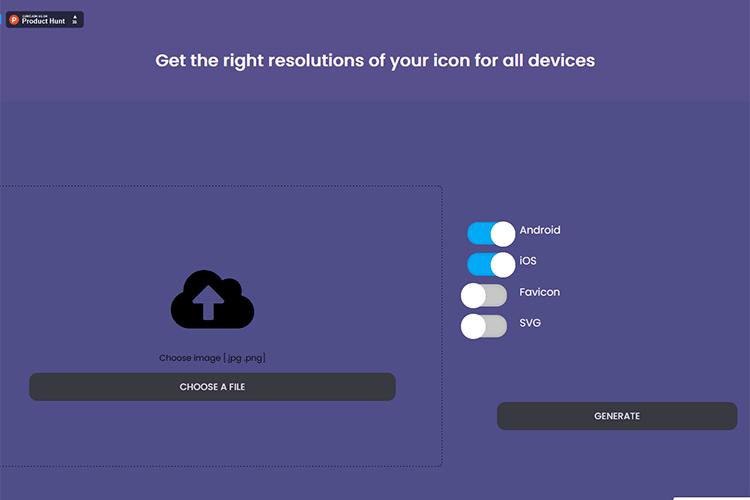 Example of Iconsizer