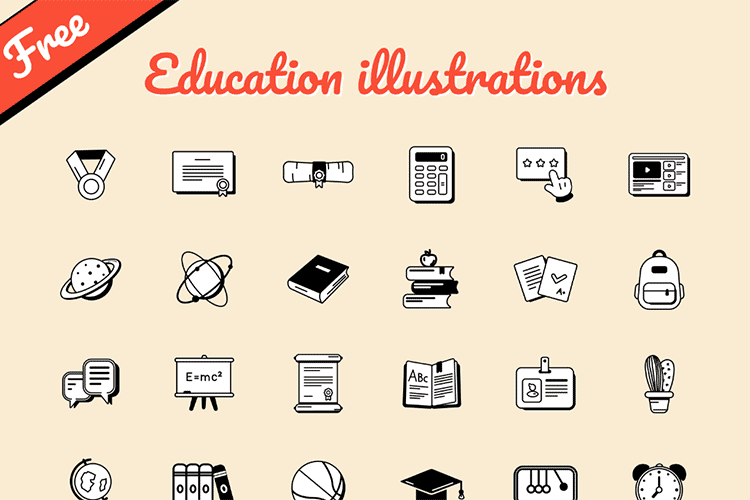 Example from Free Education illustrations