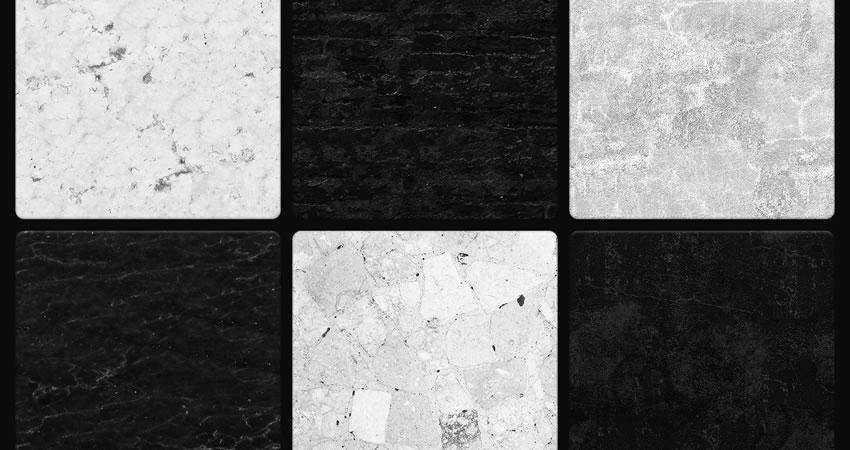 Black White Seamless free high-res textures