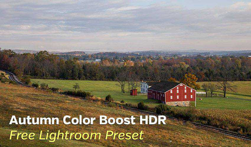 Autumn Color Boost Free HDR Lightroom Preset