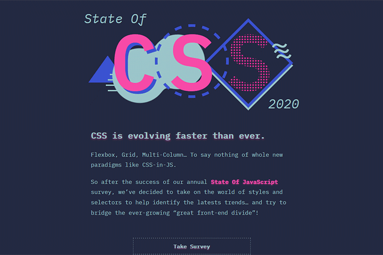 Example from The State of CSS Survey