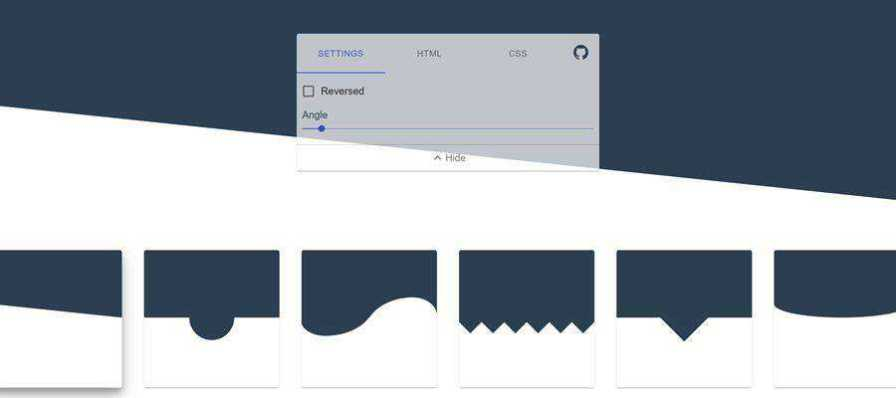 Example of CSS Section Separator Generator
