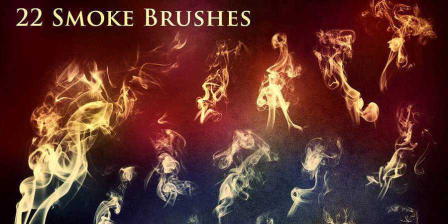 Smoke and Fire free photoshop brushes ABR