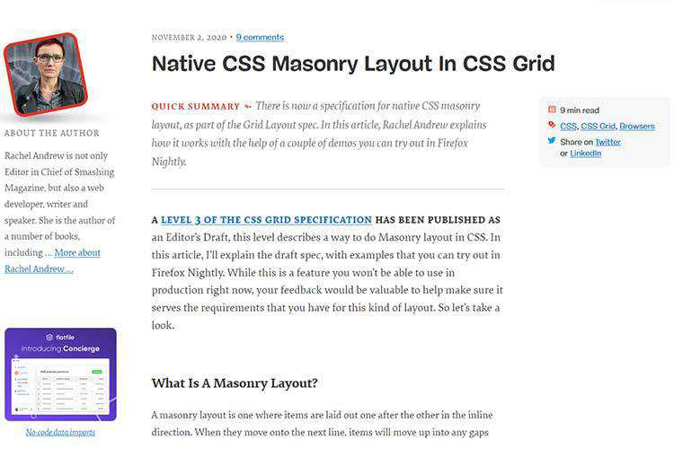 Example of Native CSS Masonry Layout In CSS Grid