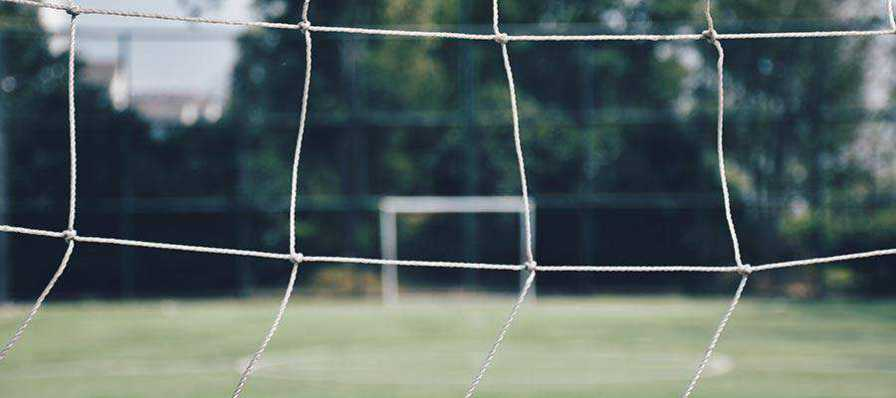 A soccer goal.