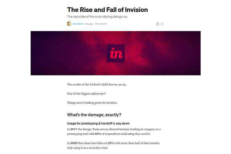 Example from The Rise and Fall of Invision