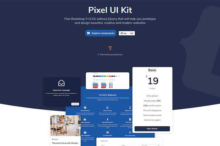 Example from Pixel Bootstrap 5 UI Kit