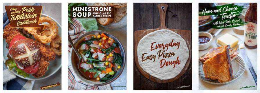 Eat the Love Recipe Photography Design