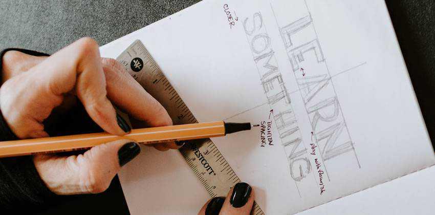learn something sketch notepad pencil ruler designer