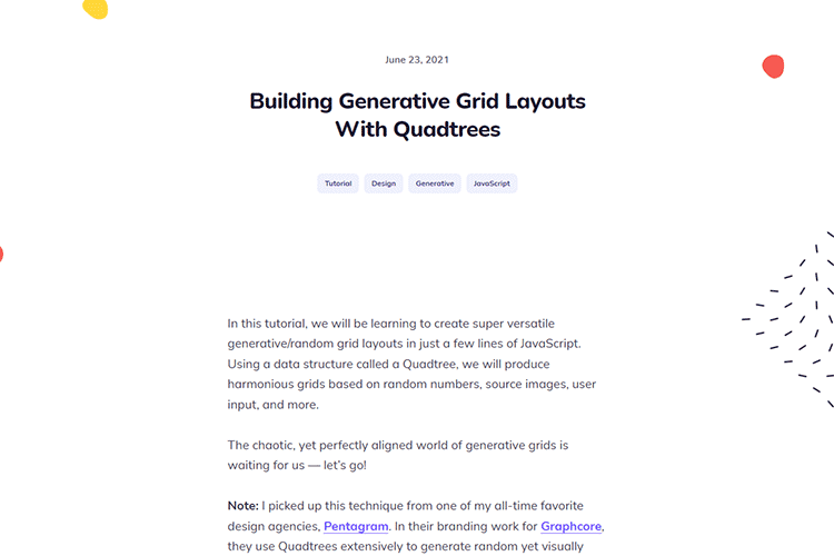 Example from Building Generative Grid Layouts With Quadtrees