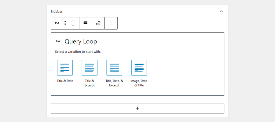 The Query Loop Block.