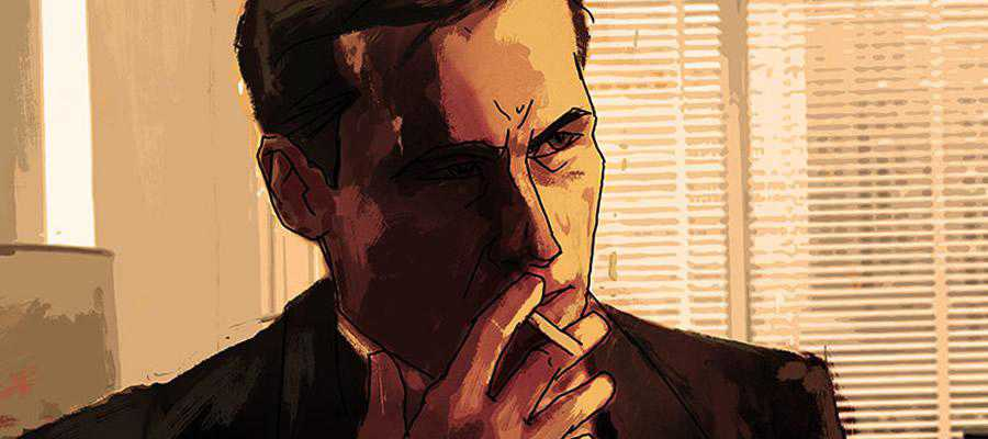 Art Don Draper Mad Men Smoking