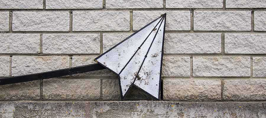 A paper airplane.