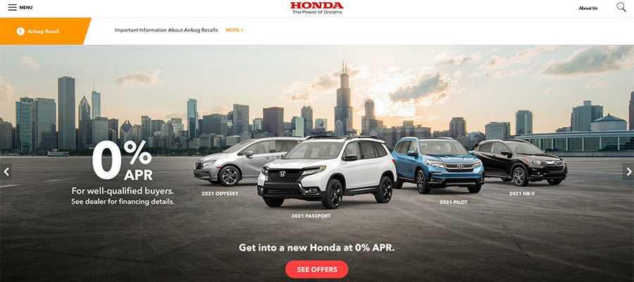 A slider is still used on the Honda website.