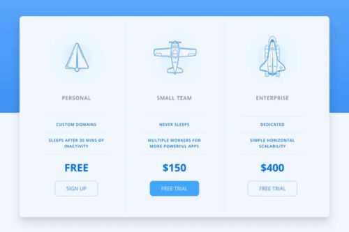 Example from 10 Free CSS Snippets for Creating Responsive Pricing Tables