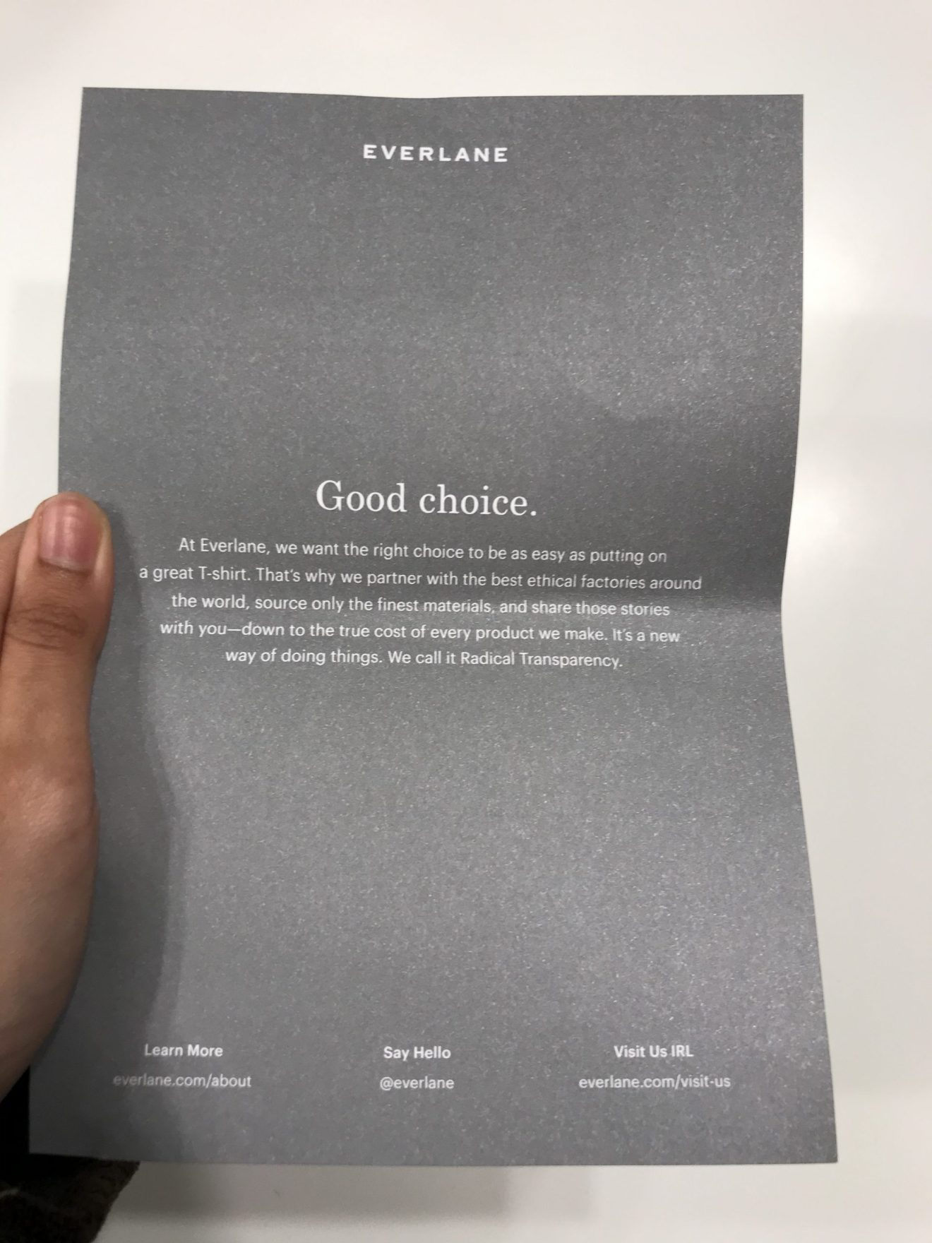 everlane message