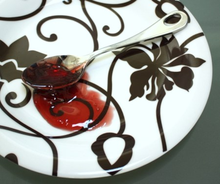 Beach Plum Jelly Plate and Spoon