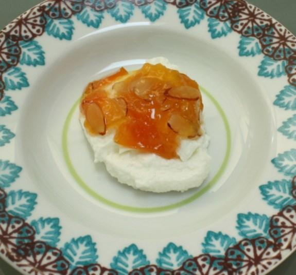 Yogurt with Peach Melon Almond Jam 2