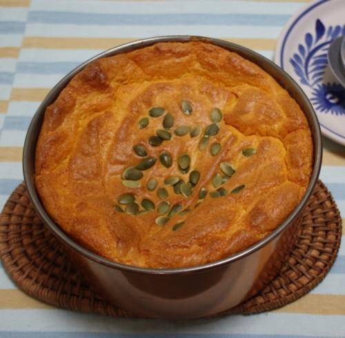 Pumpkin Souffle Served