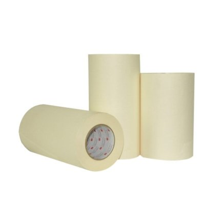 Double coated 3 mil white polypropylene – rubber adhesive, lightweight, carpet hold-down tape