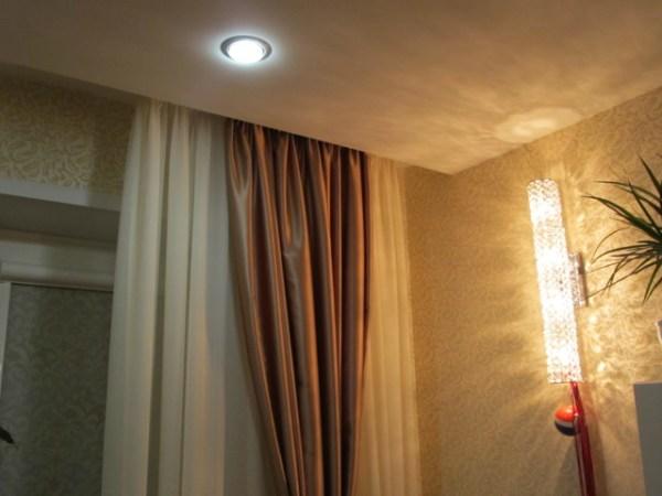 Потолочный карниз для натяжных потолков фото: для штор ...