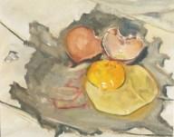 "Urban Egg, oil on canvas panel, 8"" x 10"""