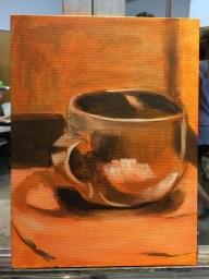 "Glazing Study, Acrylic on Canvas panel, 8"" x 10"""