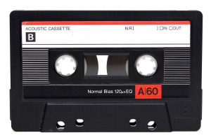 Cassette tape to illustrate autism article about the 1980s
