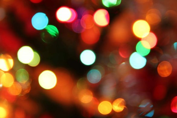 Image of festive lights to illustrate article about avoiding sensory overload for autistics.