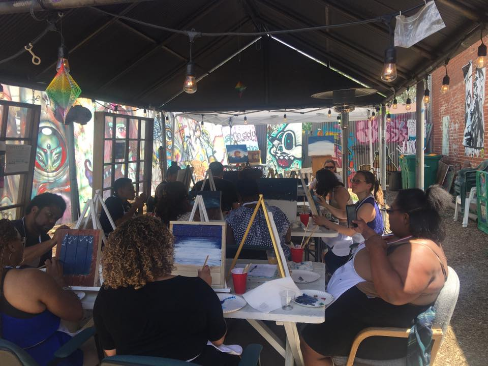 Spectra Art Space Outside Painting Class