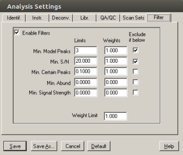 amdis-analysis-filter-settings