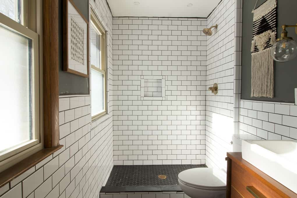 The Surprising Subway Tile Trend Transforming Our ... on Bathroom Ideas Subway Tile  id=77041
